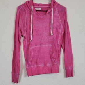 Ocean drive pink burn out hoodie